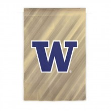 "NCAA Licensed Washington Huskies Outdoor Decorative Suede Glitter 29"" x 43"" House Flag"