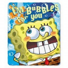 """Officially Licensed Nickelodean Spongebob Squarepants """"Bubbles 4 You"""" Throw B..."""