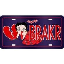 Betty Boop Heart Breaker License Plate (BRAKR)