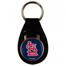 MLB Officially Licensed Leather Keyring, Keychain (St. Louis Cardinals)