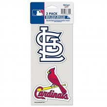 MLB Officially Licensed St. Louis Cardinals 2 Pack Perfect Cut Decals
