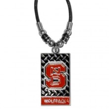 North Carolina State Wolfpack Diamond Plate Rope Necklace, 20-Inch