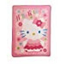 """Hello Kitty """"Scalloped Edges"""" Micro Raschel Throw (46"""" X 60"""")"""