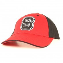 NCAA Licensed NC State Wolfpack Embroidered Two Tone hook and loop Hat Cap Lid