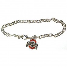 NCAA Officially Licensed Ohio State Buckeyes Logo Chain Bracelet