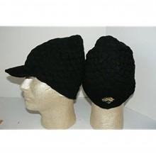 NFL Licensed Jacksonville Jaguars Black Billed Visor Beanie Hat Cap Lid
