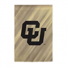 "NCAA Licensed Outdoor University of Colorado Buffaloes Decorative Suede Glitter 29"" x 43"" House Flag"