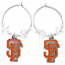MLB Officially Licensed San Francisco Giants Beaded Hoop Earrings