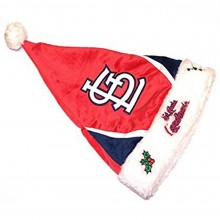MLB Licensed St Louis Cardinals Embroidered Plush Santa Hat Beanie