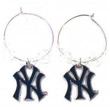 MLB Officially Licensed New York Yankees Beaded Hoop Earrings