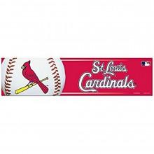 """MLB Licensed St. Louis Cardinals Bumper Strip Sticker 3"""" x 12"""""""