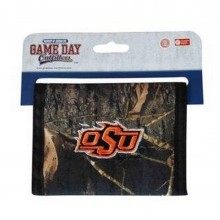 NCAA Officially Licensed Oklahoma State Cowboys Camouflage Embroidered Logo Bi-Fold hook and loop Wallet