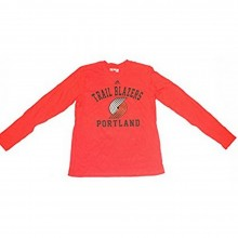 NBA Officially Licensed Portland Trail Blazers YOUTH Red Long Sleeve T-Shirt (Large 14-16)