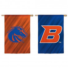 "NCAA Licensed Boise State Broncos Double Side Outdoor Decorative Suede 12.5"" x 18"" Flag"