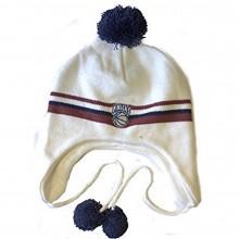 NBA Officially Licensed New York Knicks White Brown Stripe Pom Tassel Beanie Hat Cap Lid