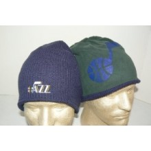 NBA Utah Jazz Reversible Embroidered Beanie Hat Cap Lid Toque