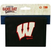 NCAA Officially Licensed Wisconsin Badgers Embroidered Logo Bi-Fold hook and loop Wallet