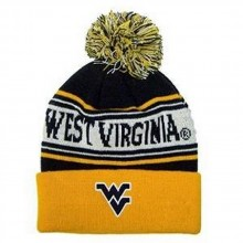 NCAA Officially Licensed West Virginia Mountaineers Ambient Magic Cuffed Pom Beanie