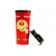 NFL Officially Licensed San Fransisco 49ers 16 Oz Insulated Coffee Travel Tum...