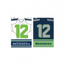 """NFL Licensed Seattle Seahawks Outdoor Decorative Foil Dual Sided 29"""" X 43"""" Flag"""