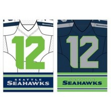 "Officially Licensed Seattle Seahawks Outdoor Decorative Foil 12.5"" x 18"" Garden Flag"