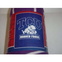 Texas Christian Horned Frogs Fleece Blanket Throw