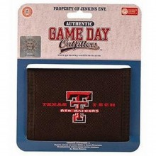 NCAA Officially Licensed Texas Tech Red Raiders Embroidered Logo Bi-Fold hook and loop Wallet