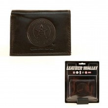 MLB Officially Licensed Houston Astros Embossed Black Leather Tri-Fold Wallet