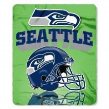 """NFL Officially Licensed Seattle Seahawks Gridrion Light Weight Fleece Throw Blanket (50"""" X 60"""")"""