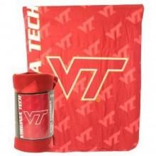 NCAA Virginia Tech Allover Logo Lightweight Fleece Blanket