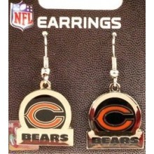 Chicago Bears Bar Style Dangle Earrings