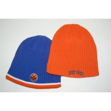 NBA New York Knicks Reversible Ribbed Embroidered Beanie