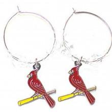 MLB Officially Licensed St. Louis Cardinals Beaded Hoop Earrings