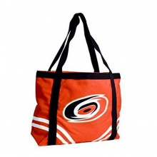 NHL Carolina Hurricanes Canvas Tailgate Tote Bag