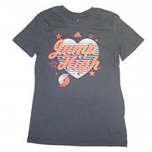 NBA Officially Licensed Portland Trail Blazers YOUTH Girls LOVE Jump High T-Shirt (Medium 10-12)