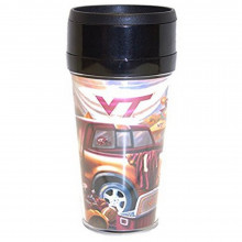 NCAA Officially Licensed Team Reflections 16 Oz Insulated Travel Mug (Virgini...