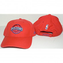 NBA Licensed Detroit Pistons Courtside Structured Baseball Hat By Reebok