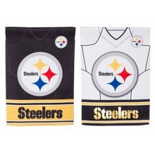 "Officially Licensed Pittsburgh Steelers Outdoor Decorative Foil 12.5"" x 18"" Garden Flag"