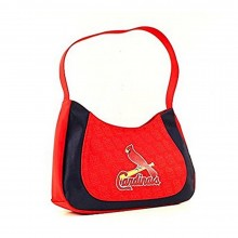 MLB Officially Licensed St. Louis Cardinals Two Tone Curve Hobo Purse
