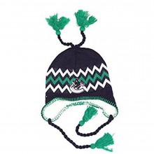 NHL Officially Licensed Vancouver Canucks Sherpa Lined Tassel Beanie Hat Cap Lid Skull