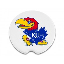 Kansas Jayhawks Ceramic Car Coasters (2 Pack)