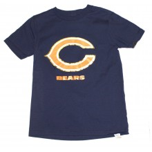 NFL Officially Licensed Chicago Bears Reflective Gold Outline Logo Youth T-Shirt (Small 8)