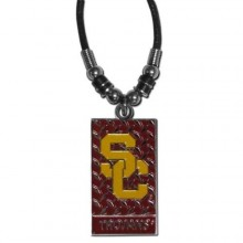 USC Trojans Diamond Plate Rope Necklace, 20-Inch
