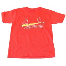 MLB Licensed St. Louis Cardinals Distressed Logo YOUTH Shirt (X-Large 18-20)