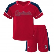 "MLB Licensed St. Louis Cardinals INFANT ""Baseball Classic"" 2 Piece Cool Base Short Set"