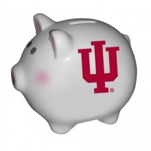 Indiana Hoosiers Ceramic Piggy Bank