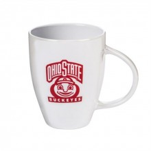 Ohio State Buckeyes 18 oz White Luster Cup
