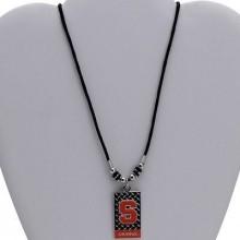 Syracuse Orange Diamond Plate Rope Necklace, 20-Inch