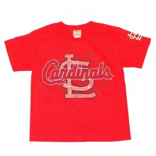MLB Licensed St Louis Cardinals YOUTH Shadow Print T-Shirt (Large)