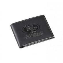 San Francisco 49ers Black Leather Bi-Fold Wallet
